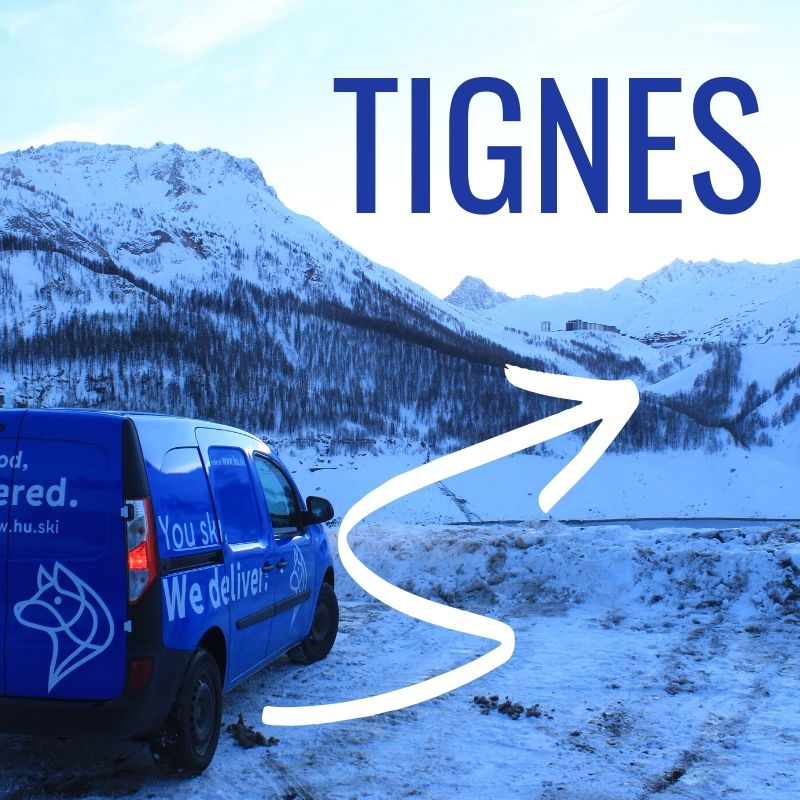 Tignes, we love it. So we deliver there every day