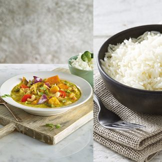Yellow Vegetable Curry + Basmati Rice (1 course)